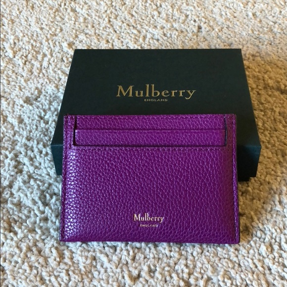 c919c21dc631 Mulberry Small Classic Grain Card Holder Slip. M 5b436286aa5719779639d11f